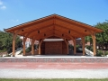 wooden outdoor stage or amphitheater